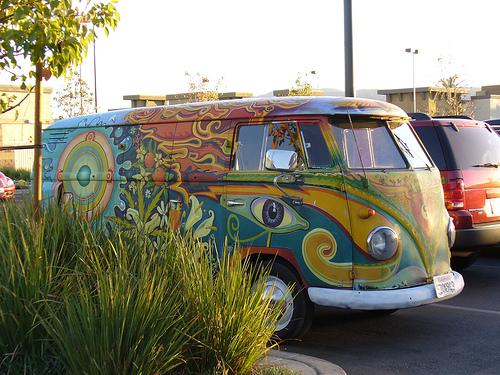 Psychedelic VW Van